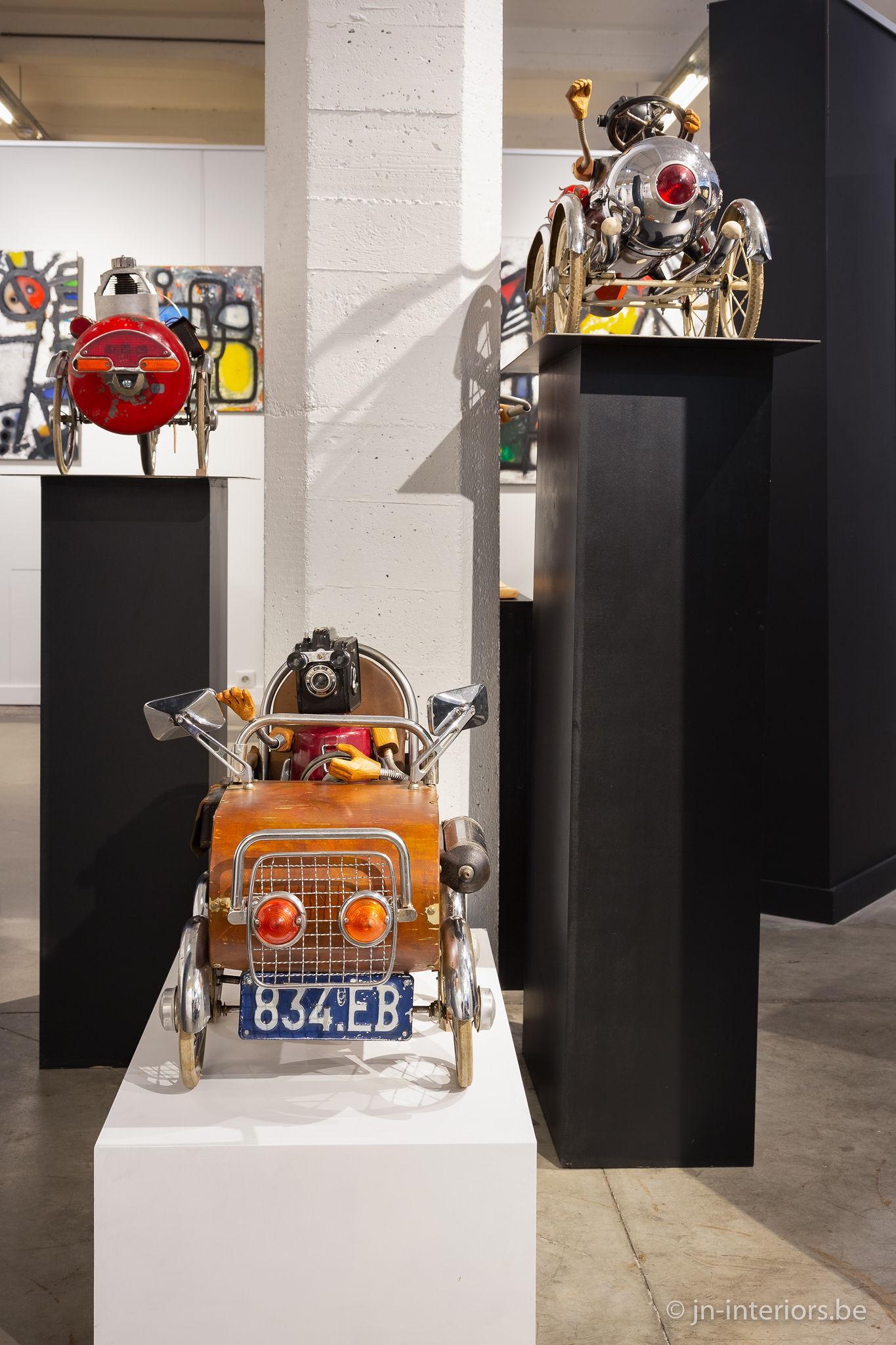 oeuvres d'art belges, exposition jn interiors, voiture décoration, magasin de décoration belgique, jour et nuit liège verviers