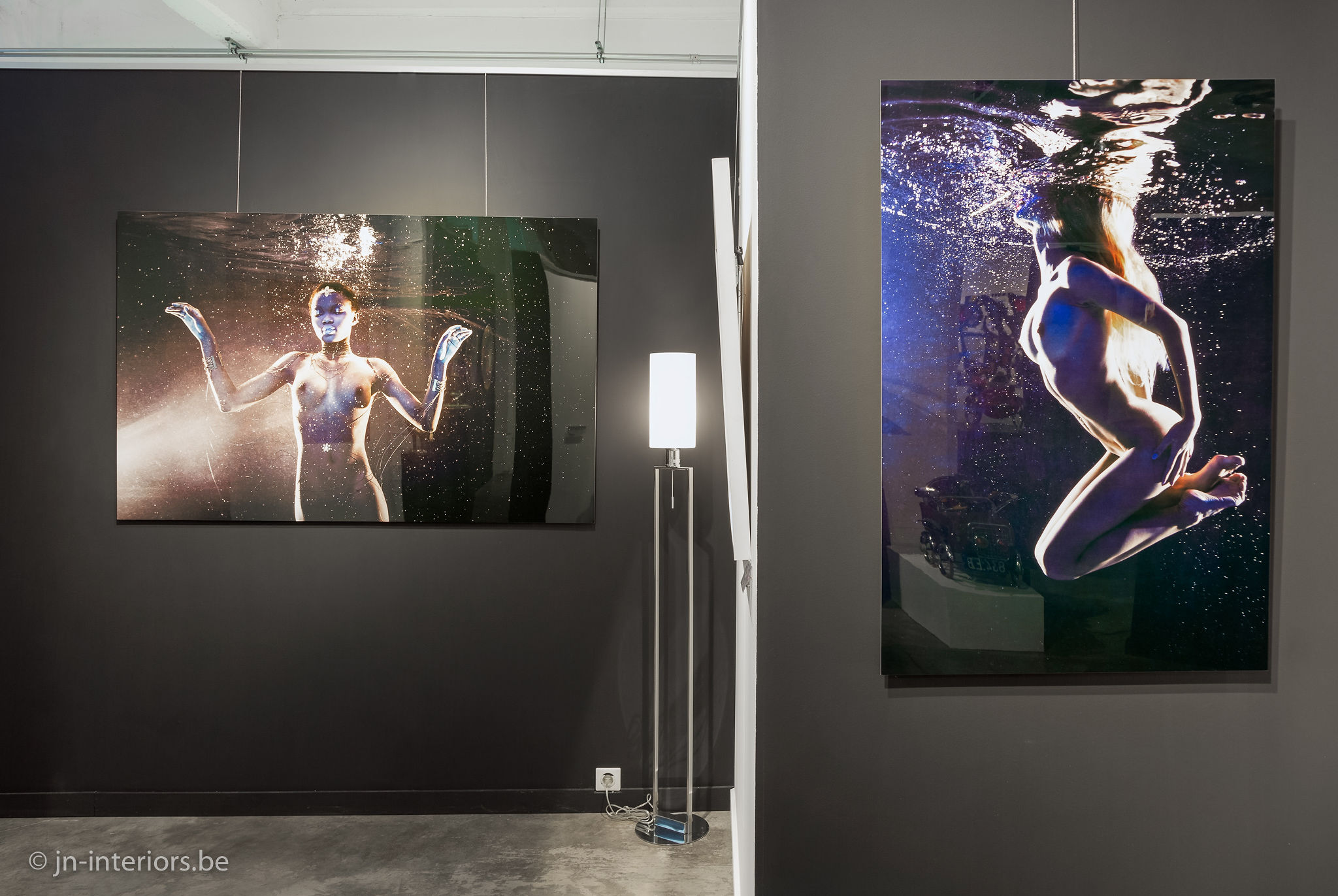 photo sous l'eau, photo de nu, photographe belge, Harry Fayt, magasin de décoration, exposition d'art, galerie d'art, jn interiors, jour et nuit liège verviers