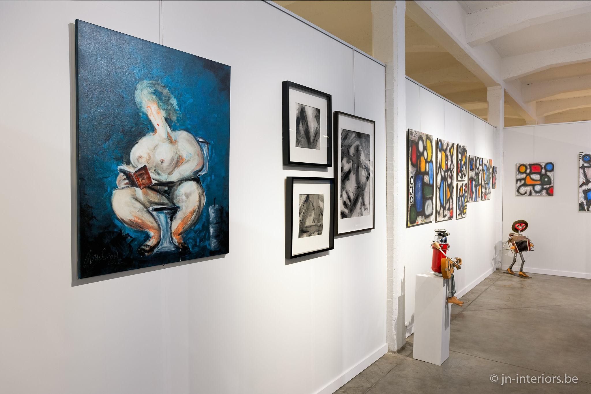 tableaux artistes belges, sculpture robots musique, galerie d'art, magasin de décoration belgique, vernissage, jn interiors, jour et nuit liège verviers