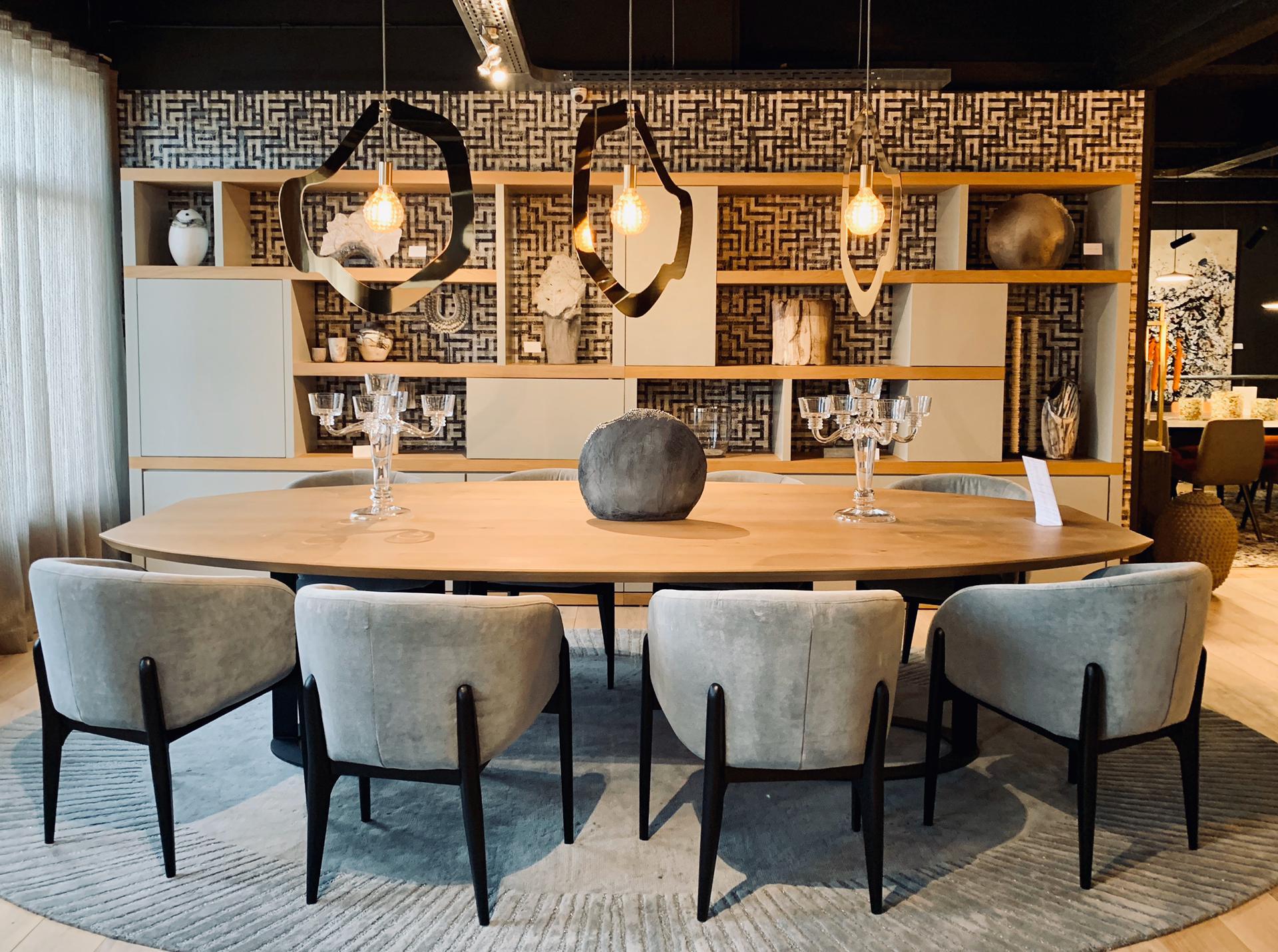 salle à manger luxe, décoration, jn interiors, jour et nuit interiors liège verviers