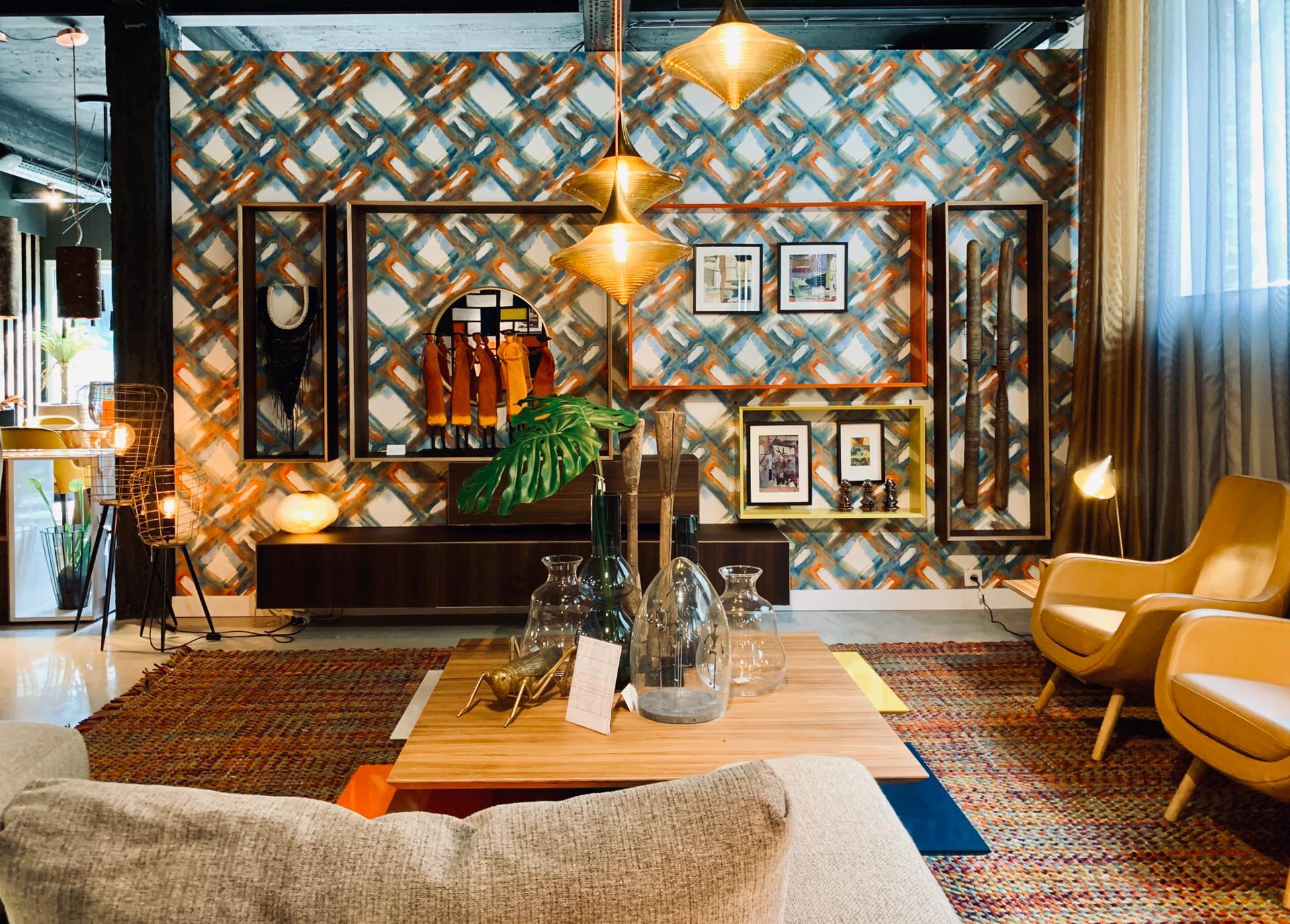 magasins de décoration, inspiration déco vintage, salon décoré, JN interiors, jour et nuit liège
