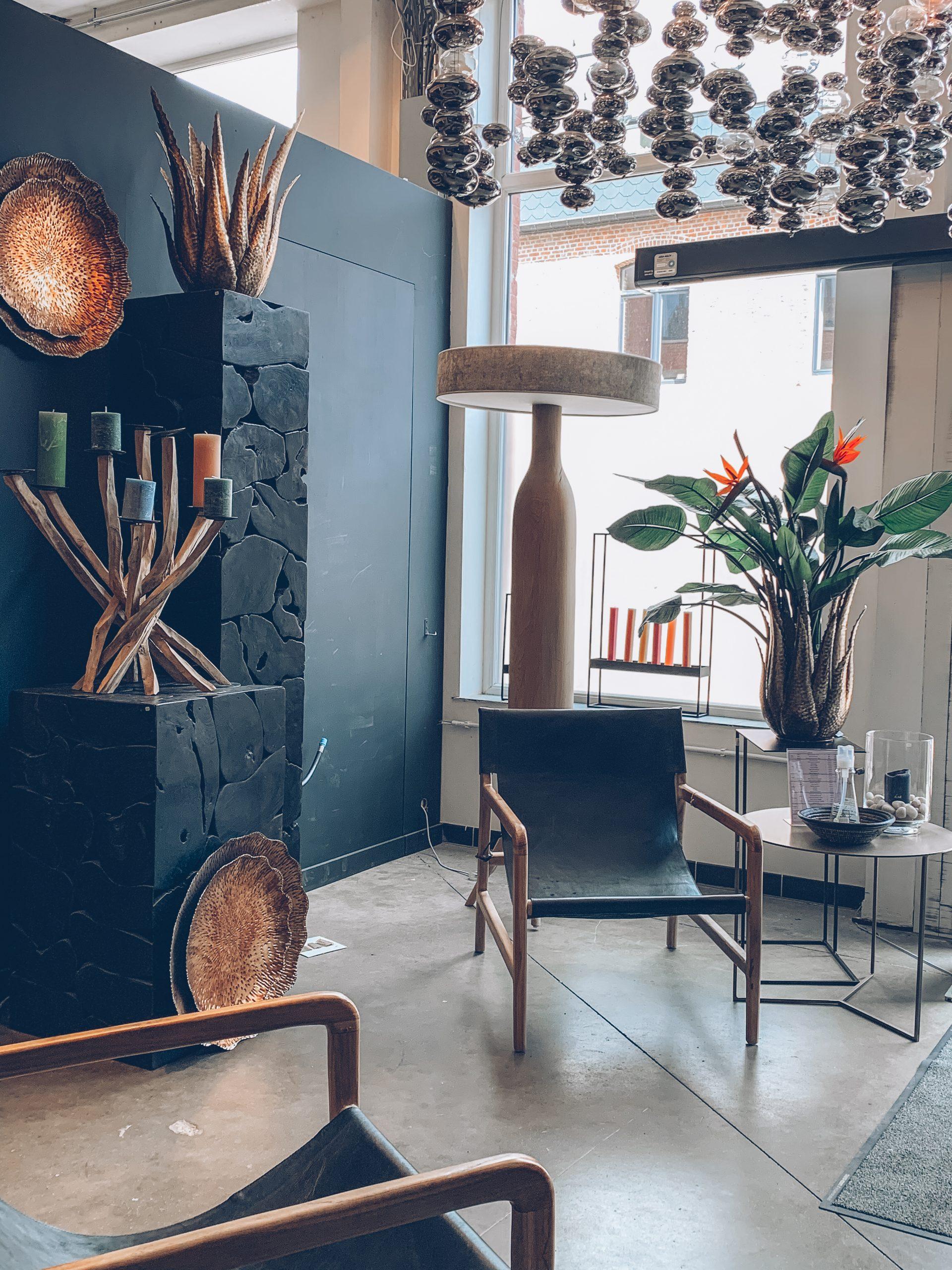 décoration noire, décoration tendance, plantes, lampes luxueuses, objets en bois, luminosité, designers belges, magasin de déco belgique, jn interiors, jour et nuit liège verviers